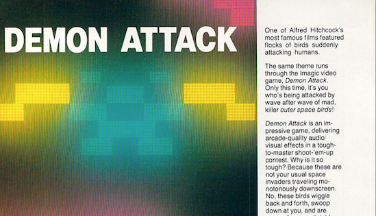 An excerpt from a Joystick feature on Demon Attack