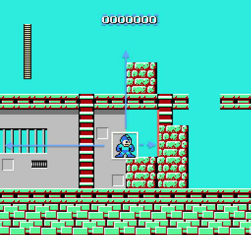 The opening screen of the Cutman stage.
